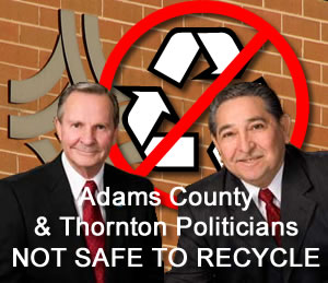 Candidates for City of Thornton mayor - Mack Goodman and Val Vigil. Not safe to recycle.